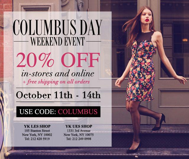 Yumi Kim Columbus Day Sale