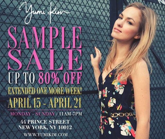Yumi Kim Sample Sale