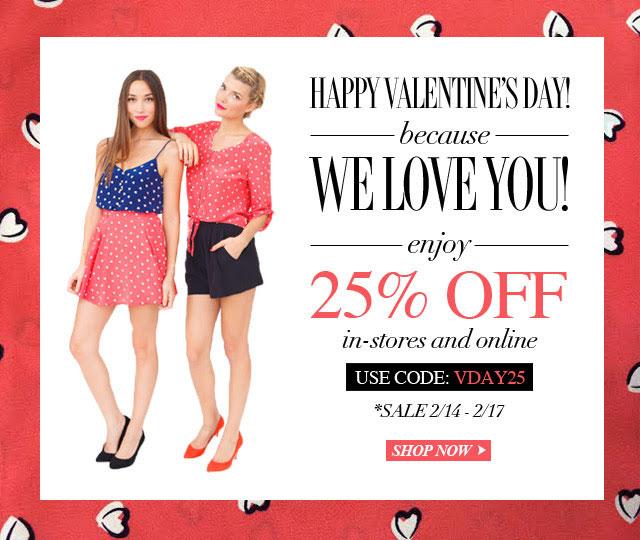 Yumi Kim Valentine's Day Sale
