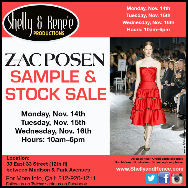 Zac Posen Sample & Stock Sale