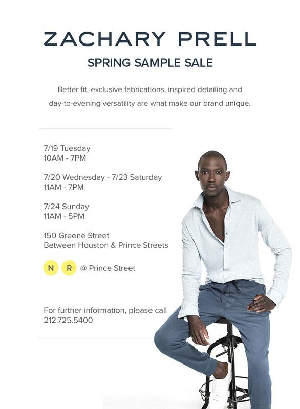 Zachary Prell Sample Sale