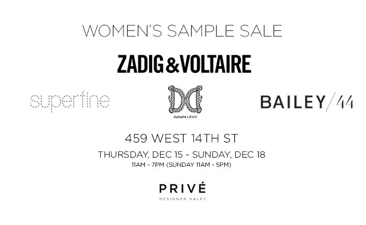 Zadig & Voltaire, Bailey 44, & More Sample Sale