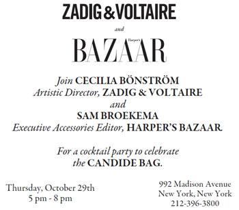 Zadig & Voltaire + Harper's Bazaar Cocktail Party