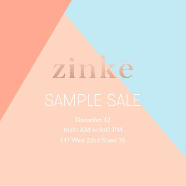 Zinke Sample Sale