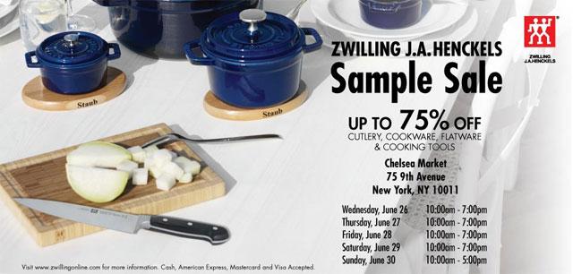 Zwilling J.A. Henckels Sample Sale