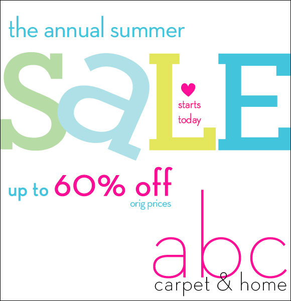 Abc carpet home annual new york summer sale for Abc carpet outlet sale
