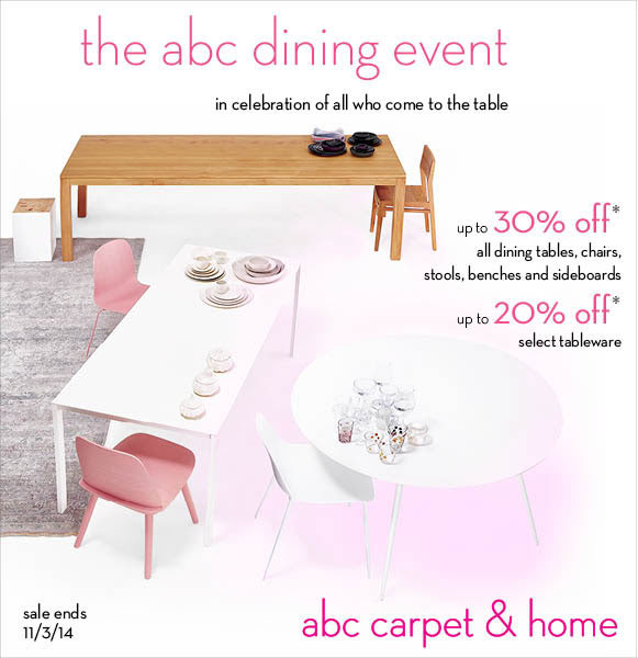 ABC Carpet & Home Fall Dining Sale