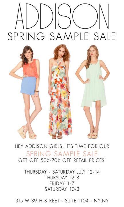 The Addison Story Sample Sale