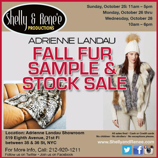 Adrienne Landau Fall Fur Sample & Stock Sale