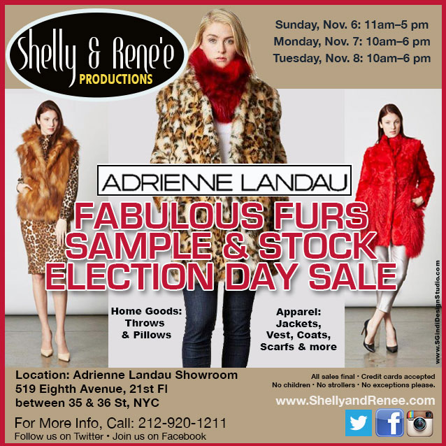Adrienne Landau Fur Sample & Stock Sale