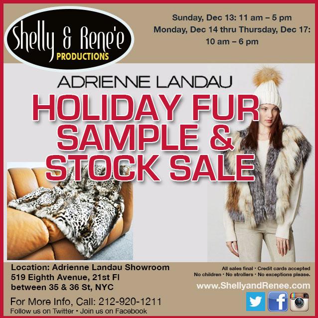 Adrienne Landau Holiday Fur Sample & Stock Sale