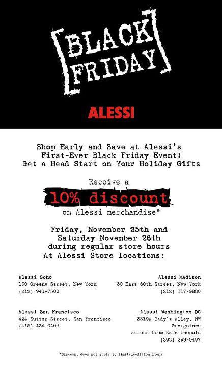 Alessi Black Friday Sale