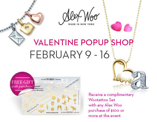 Alex Woo Valentine's Pop-up Shop