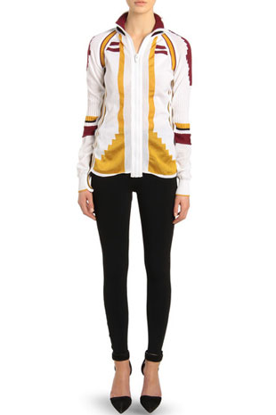 Athletic Patchwork Front Zip Cardigan Sale price at $300. Originally $895