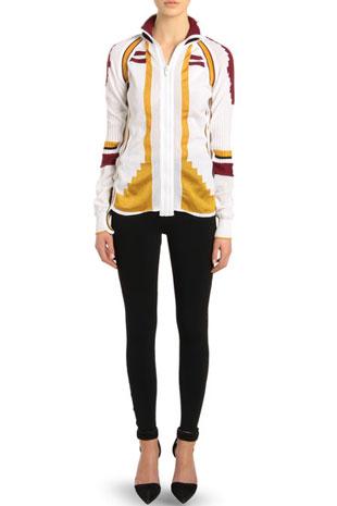 Athletic Patchwork Front Zip Cardigan Sale price at $300. Originally $895