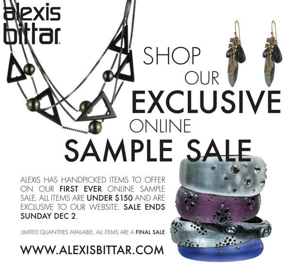 Alexis Bittar Online Sample Sale