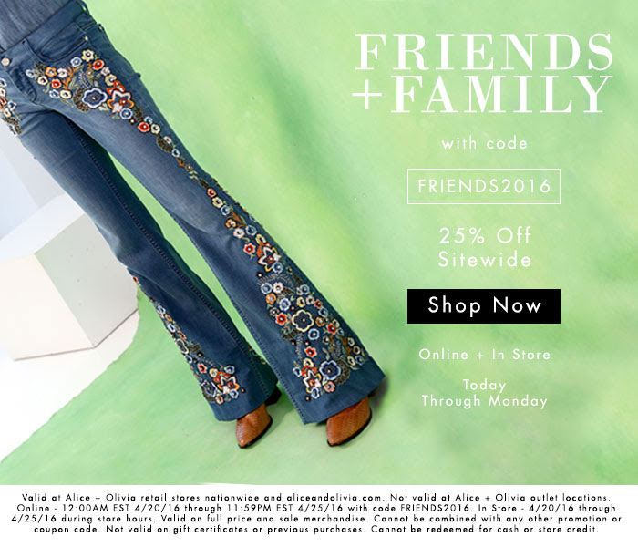 Alice + Olivia Friends & Family Sale