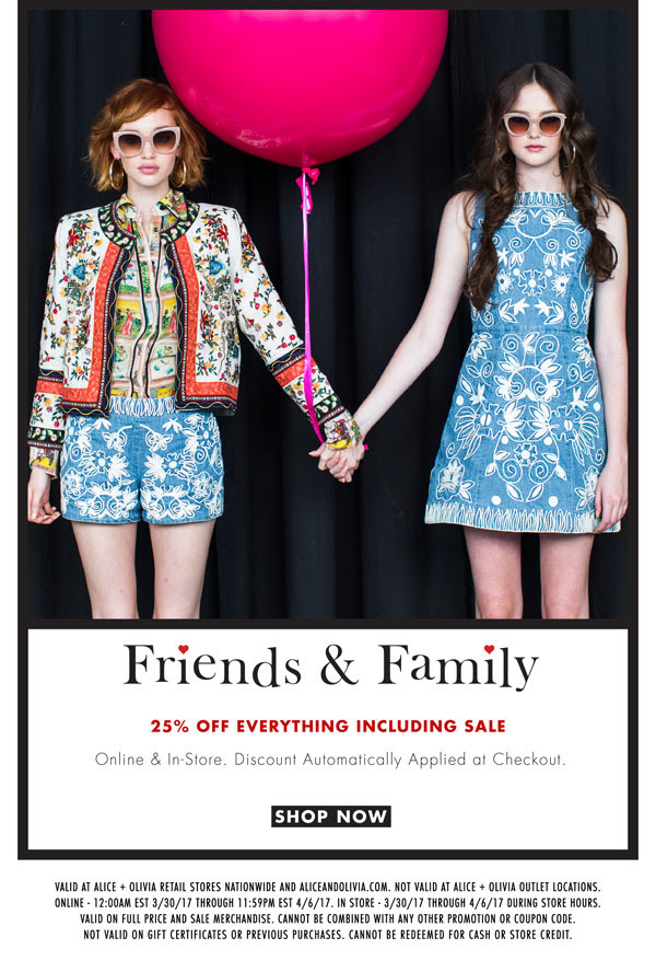 Alice + Olivia Friends & Family Sale