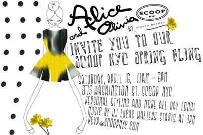 Alice + Olivia Spring Fling at Scoop NYC 4/16