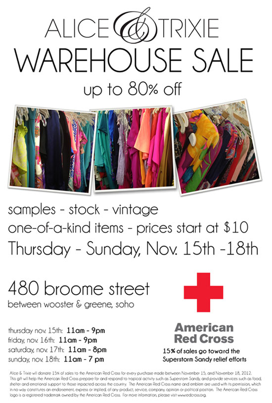 Alice & Trixie Warehouse Sale