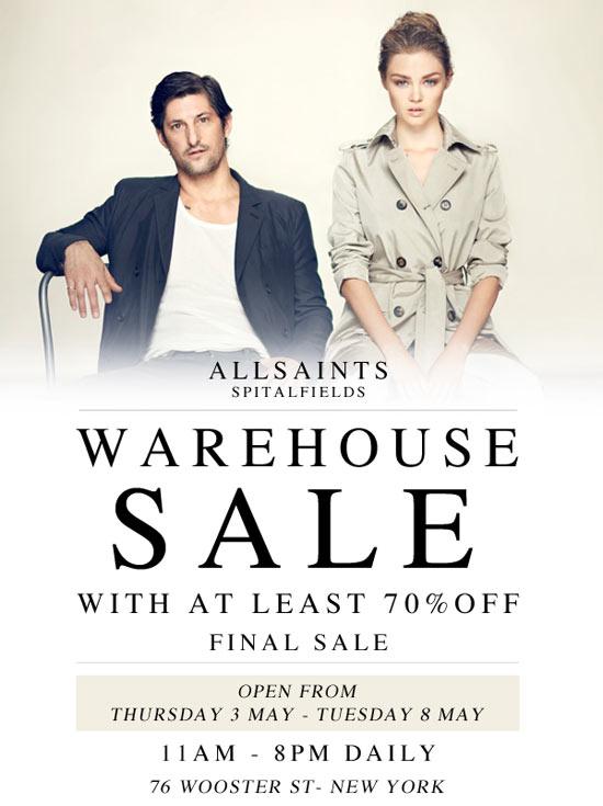 AllSaints Warehouse Sale