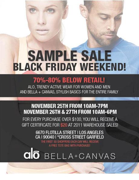 Alo,Bella + Canvas Sample Sale