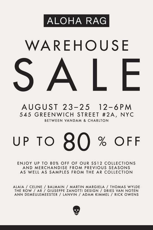 Aloha Rag Warehouse Sale