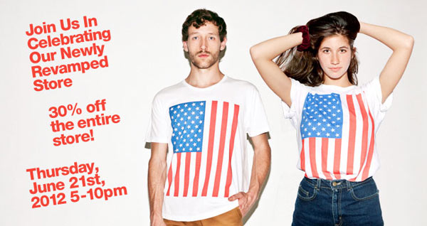 American Apparel Store-opening Sale