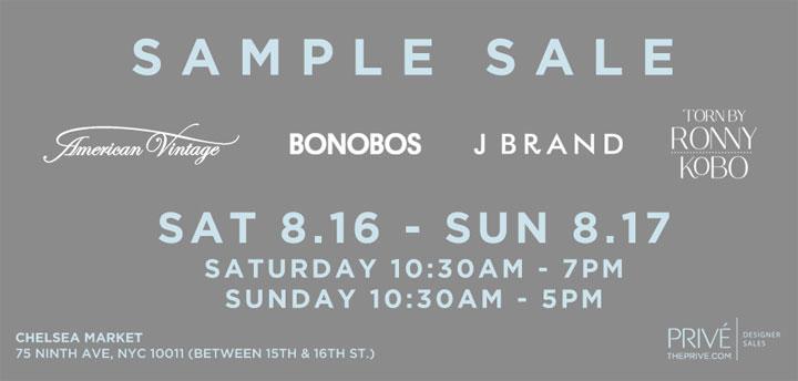 American Vintage, Bonobos, J Brand, & More Sample Sale
