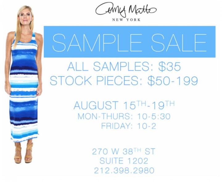 Amy Matto Sample Sale