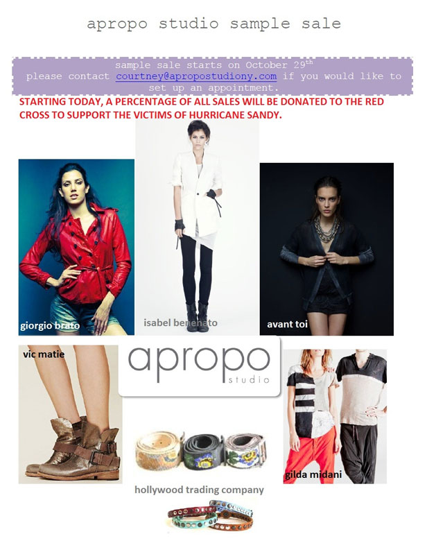 Apropo Studio Sample Sale