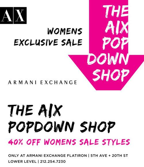 A X Armani Exchange PopDown Shop At Flatiron Store