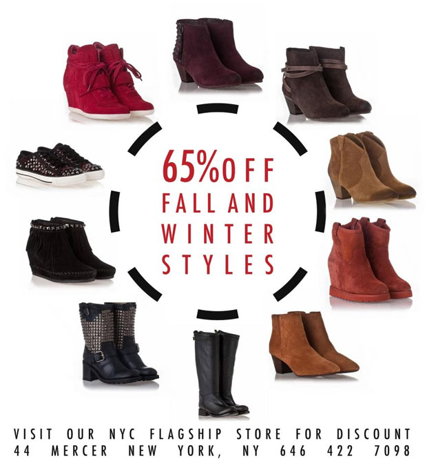 5b2c9df0e6d2 Ash Footwear New York Winter Retail Sale - TheStylishCity.com