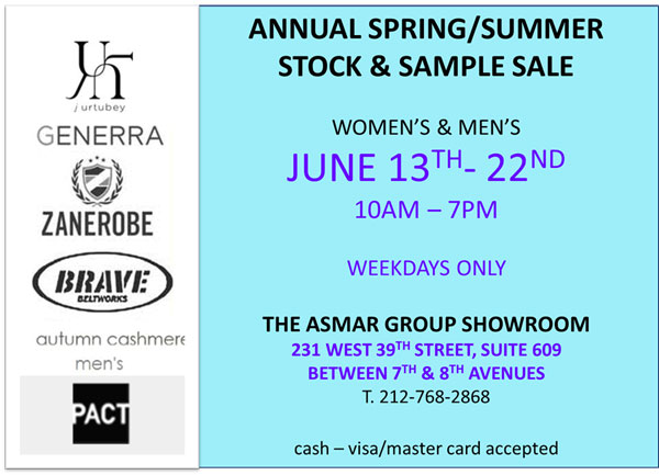 The Asmar Group Sample Sale