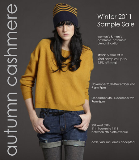 Autumn Cashmere Sample Sale