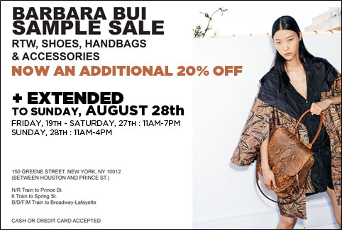 Barbara Bui Sample Sale