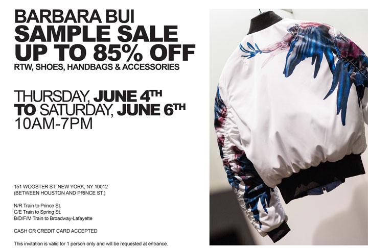 Barbara Bui Sample Sale