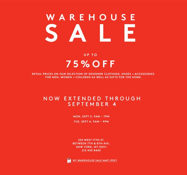 Barneys New York Warehouse Sale