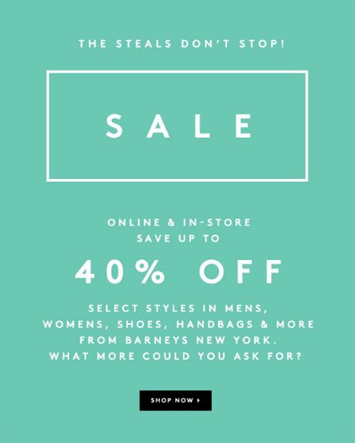 Barneys Spring Retail Sale
