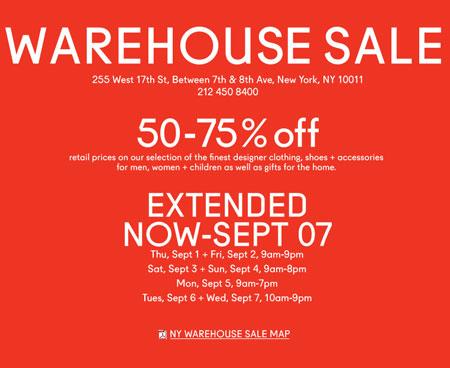 Barney's Warehouse Sale