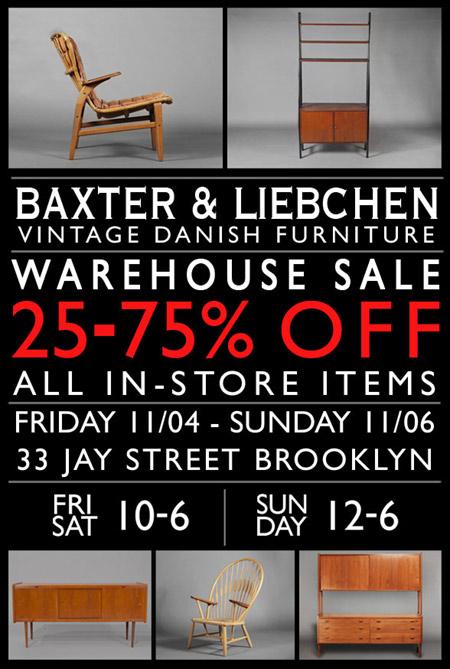 Baxter & Liebchen Warehouse Sale