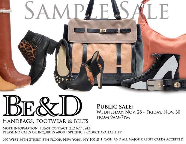Be&D Sample Sale