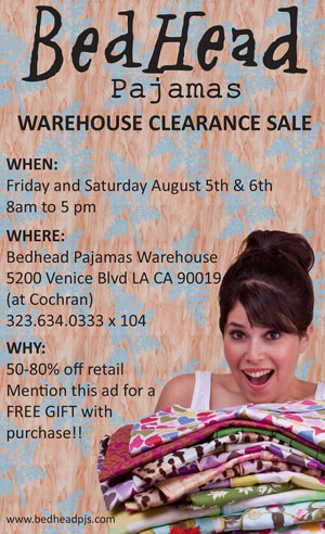 BedHead Pajamas Warehouse Sale