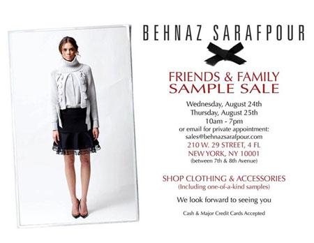 Behnaz Sarafpour Sample Sale