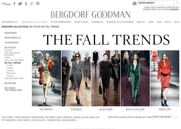 Bergdorf Goodman Fall Trends