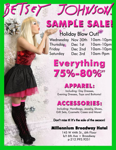 Betsey Johnson Sample Sale