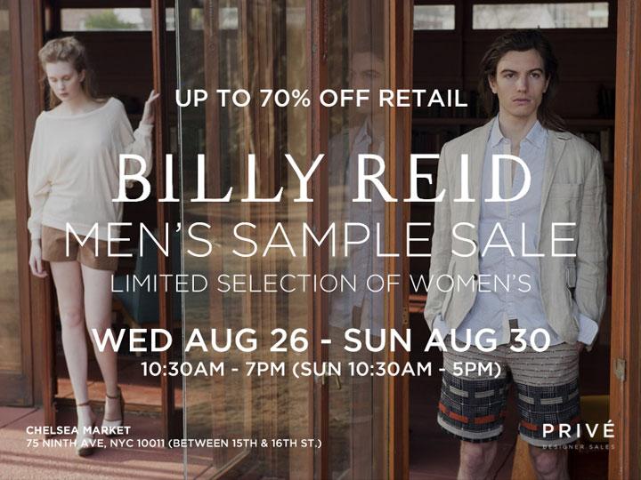 Billy Reid Sample Sale