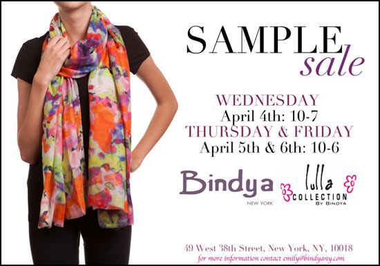 Bindya Sample Sale