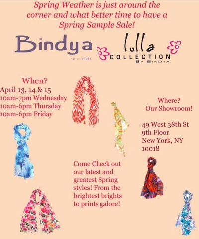 Bindya New York Sample Sale