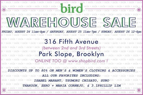 Bird Annual Warehouse Sale